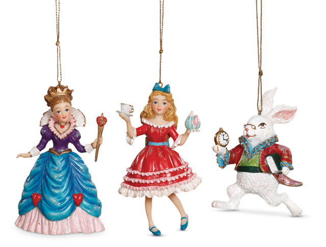 8891: Wonderland Ornaments (Set of Three) (Product Detail)