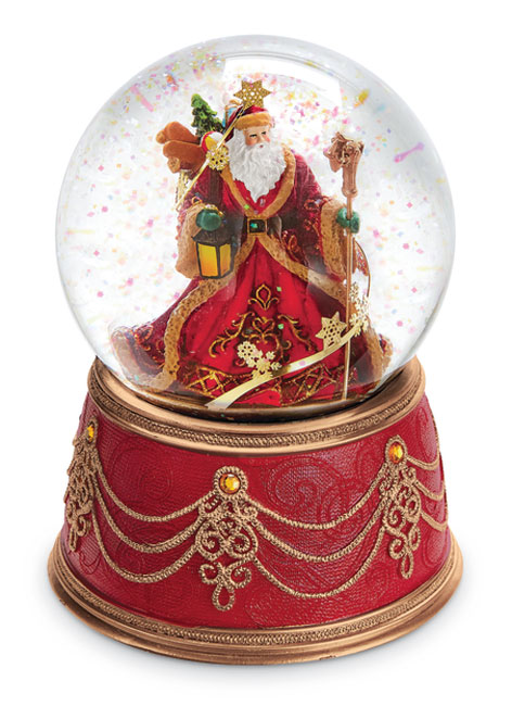 8930: Elegant Santa Musical Snow Globe (Product Detail)
