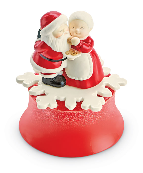 8931: Mr. and Mrs. Claus Music Box (Product Detail)