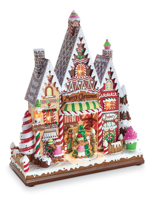 8932: Gingerbread Lighted Musical Village (Product Detail)