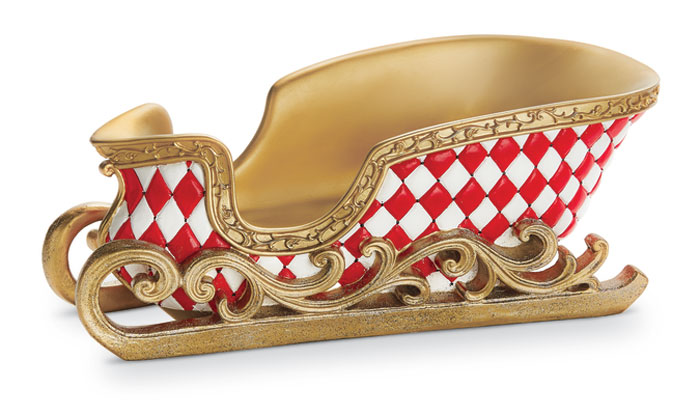 8935: Gold Checkered Sleigh (Product Detail)
