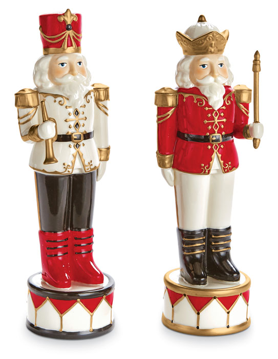 8936: Ceramic Nutcrackers (Set of Two) (Product Detail)