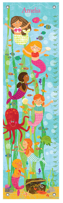 9998: Growth Chart - Mermaids (Product Detail)