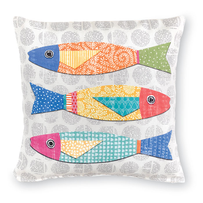 9463: Colorful Fish Pillow II (Product Detail)