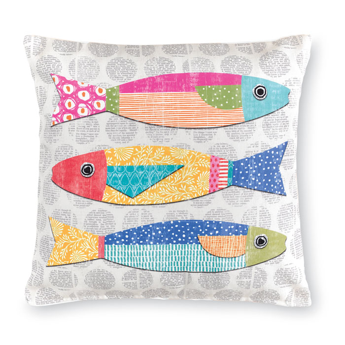 9462: Colorful Fish Pillow I (Product Detail)