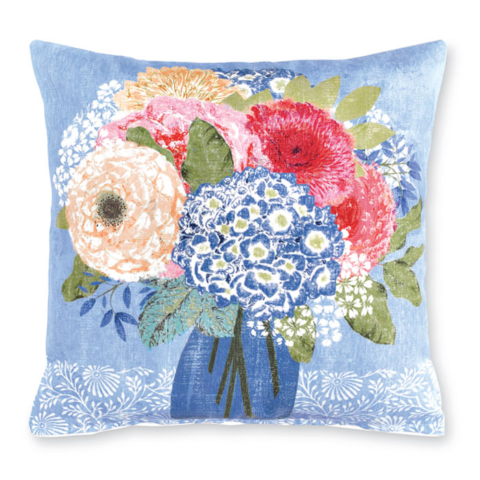 9464: Summer Blues Bouquet Pillow I (Product Detail)