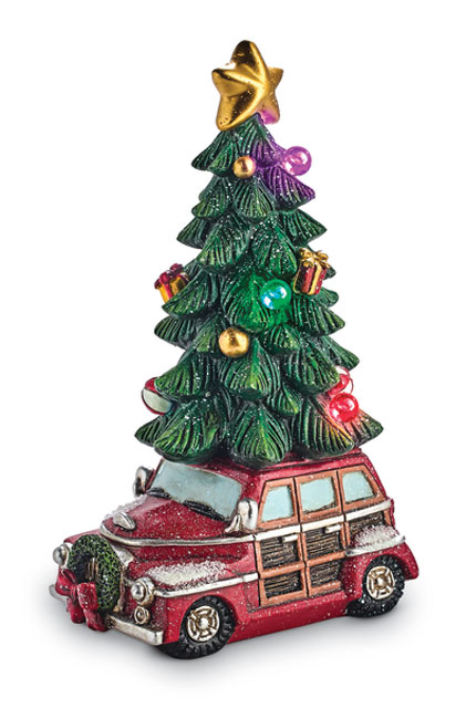 8809: Woody Wagon with Lighted Tree (Product Detail)