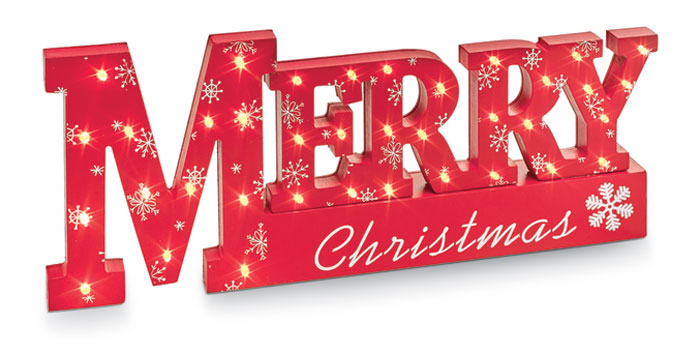8807: Merry Christmas Lighted Sign (Product Detail)
