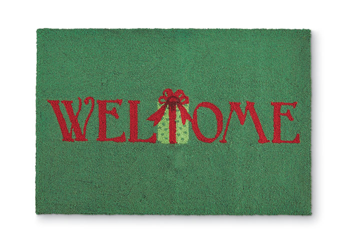 9442: Welcome Holiday Present Rug (Product Detail)