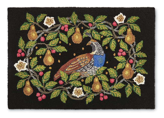 8973: Partridge and Pears Rug (Product Detail)