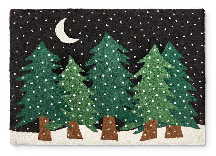 8959: Trees on a Snowy Night Rug  (Product Detail)