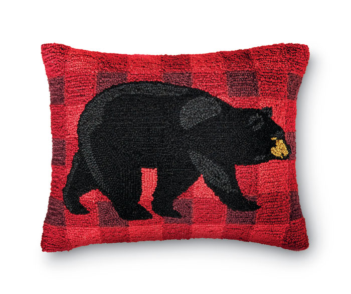 8957: Black Bear Pillow (Product Detail)