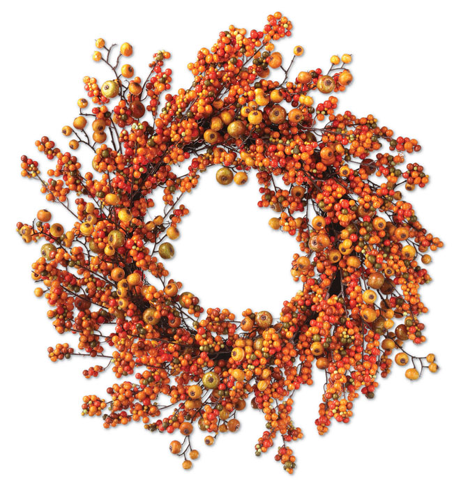 8820: Autumn Mixed Berries Wreath (Product Detail)