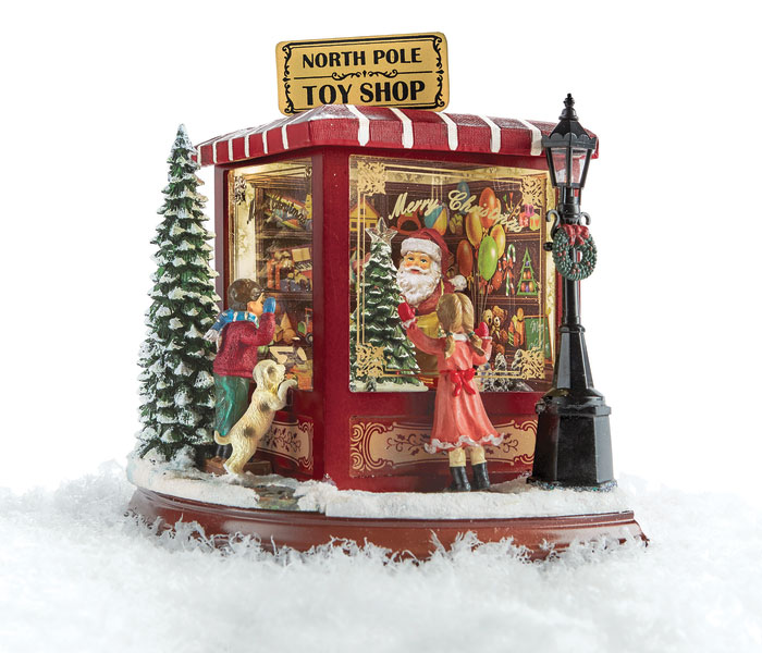 9431: North Pole Lighted and Musical Toy Shop (Product Detail)