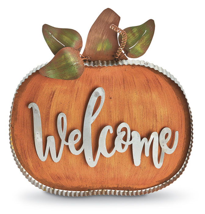 8976: Welcome Pumpkin Sign (Product Detail)