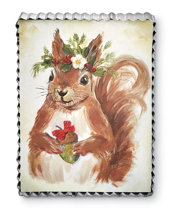 8981: Holiday Woodland Squirrel Wall Art (Product Detail)