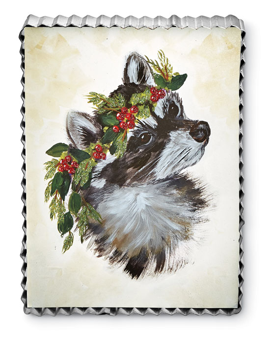 8983: Holiday Woodland Raccoon Wall Art (Product Detail)
