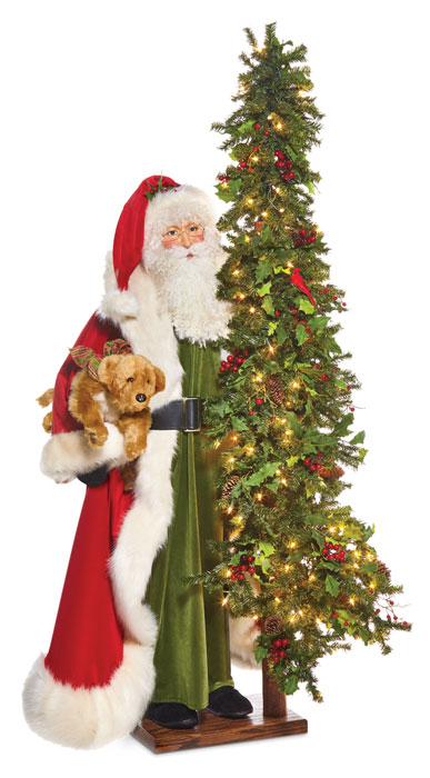 9479: Santa with Golden Retriever (Product Detail)