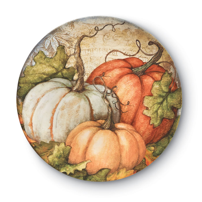 9446: Pumpkin Salad Plates (Set of Four) (Product Detail)