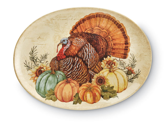 9447: Turkey Oval Platter (Product Detail)