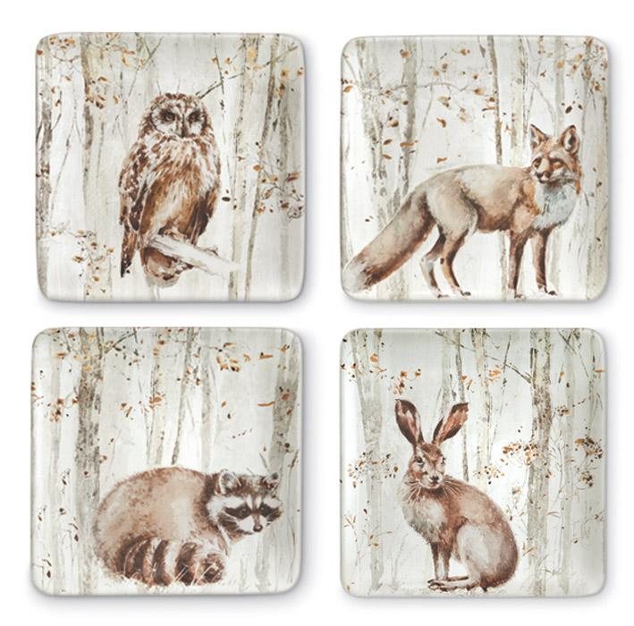 9451: Woodland Friends Plates (Set of Four) (Product Detail)