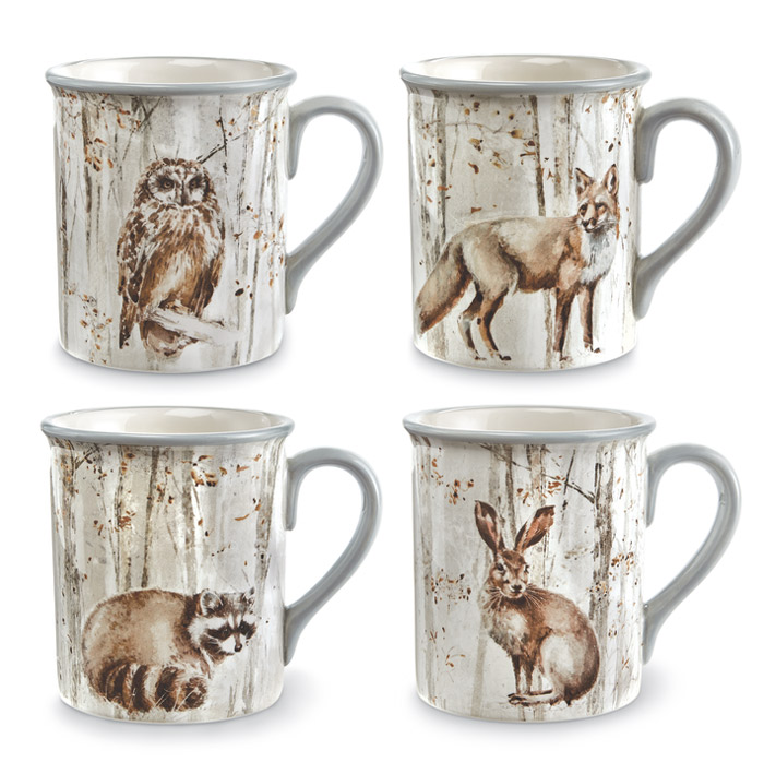 9450: Woodland Friends Mugs (Set of Four) (Product Detail)