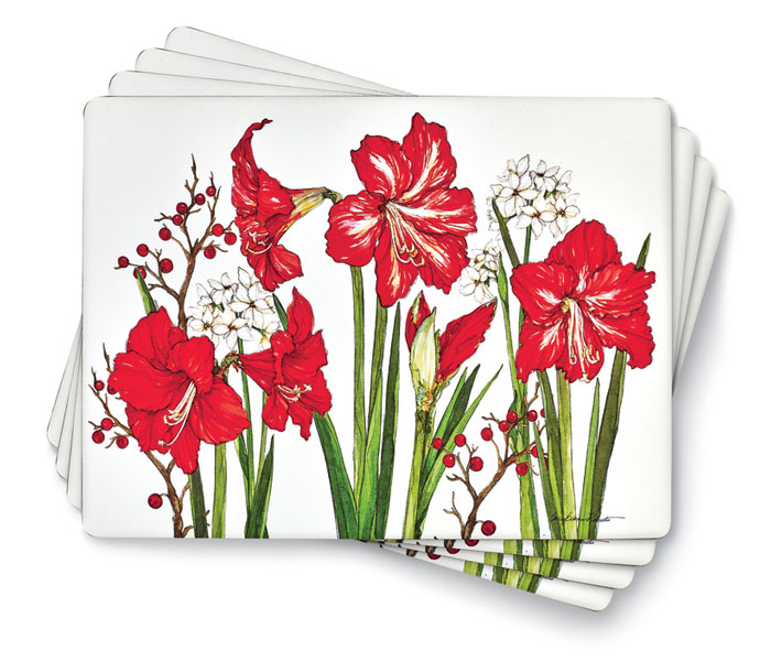 9490: Amaryllis Placemats (Set of Four) (Product Detail)