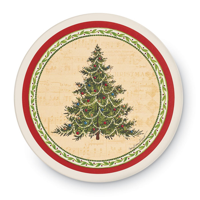 9492: Trivet with Holiday Tree (Product Detail)