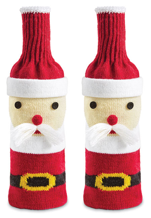 8905: Santa Wine Bottle Covers (Set of Two) (Product Detail)