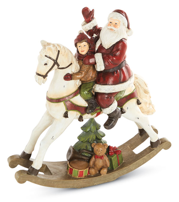 8906: Santa and Child on Rocking Horse (Product Detail)