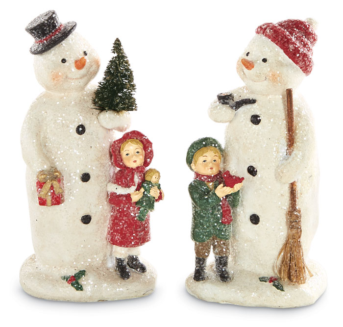 8908: Snowmen with Children (Set of Two) (Product Detail)