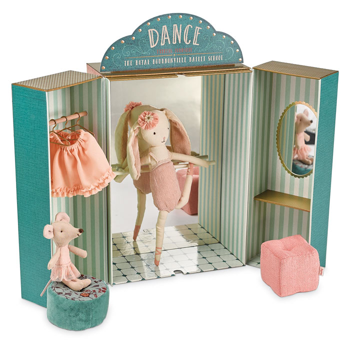9443: Ballet School with Bunny and Mouse Ballerinas (Product Detail)
