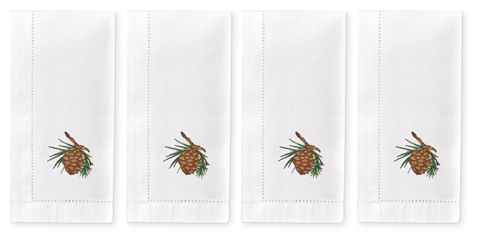 5300: Pinecone Napkins (Set of Four) (Product Detail)