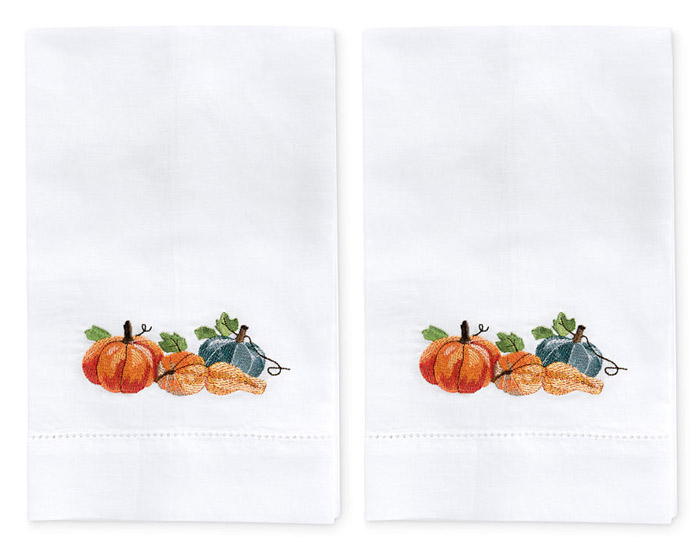 9445: Pumpkin Medley Towels (Set of Two)  (Product Detail)