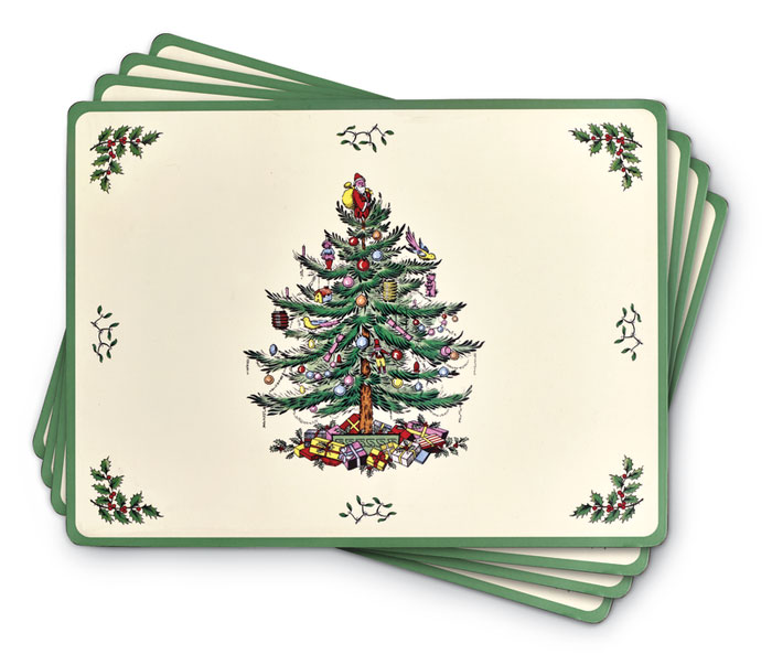 9456: Christmas Tree Placemats (Set of Four) (Product Detail)