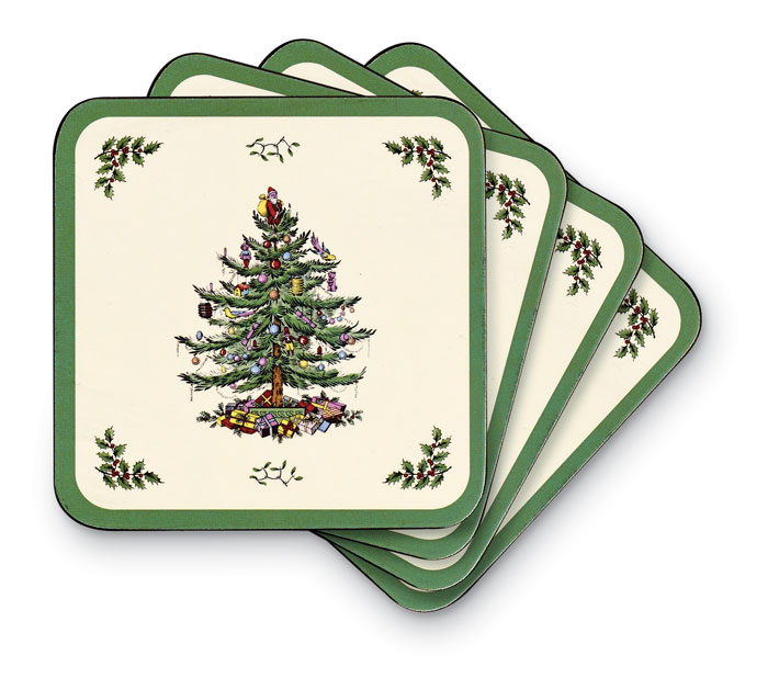 9457: Christmas Tree Coasters (Set of Six) (Product Detail)