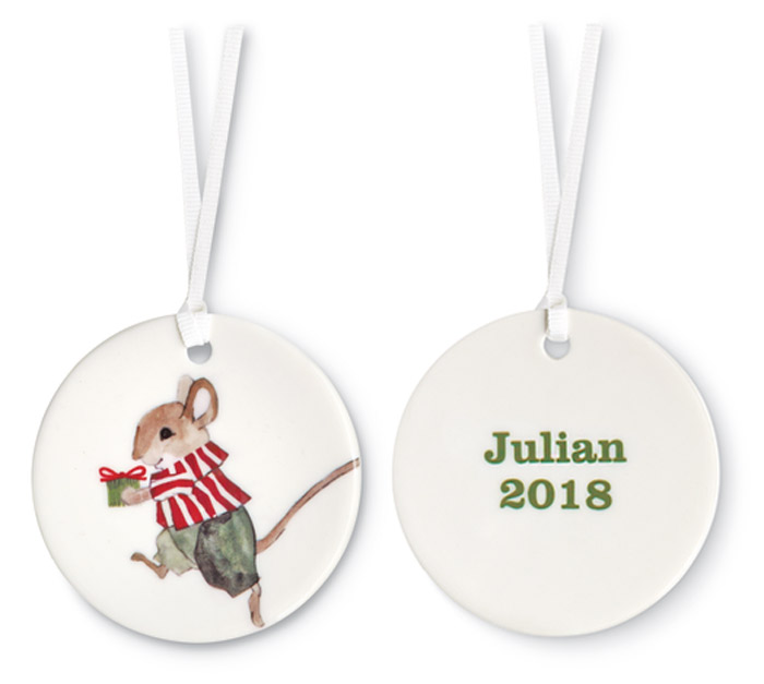 9486: Little Mr. Mouse Personalized Ornament (Product Detail)