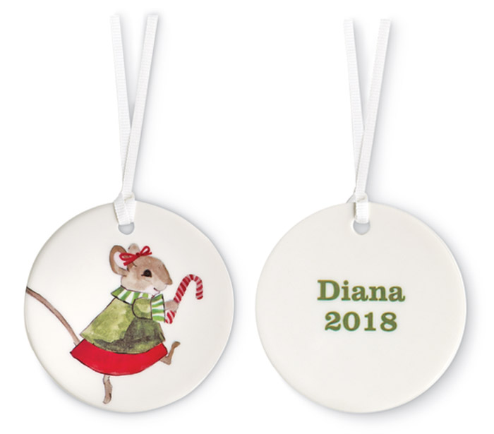 9487: Little Miss Mouse Personalized Ornament (Product Detail)