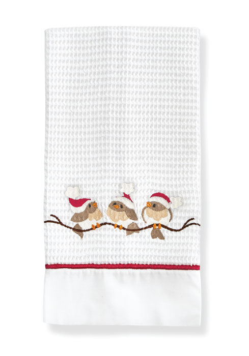 9473: Birds on Branch Embroidered Towels (Set of Two) (Product Detail)