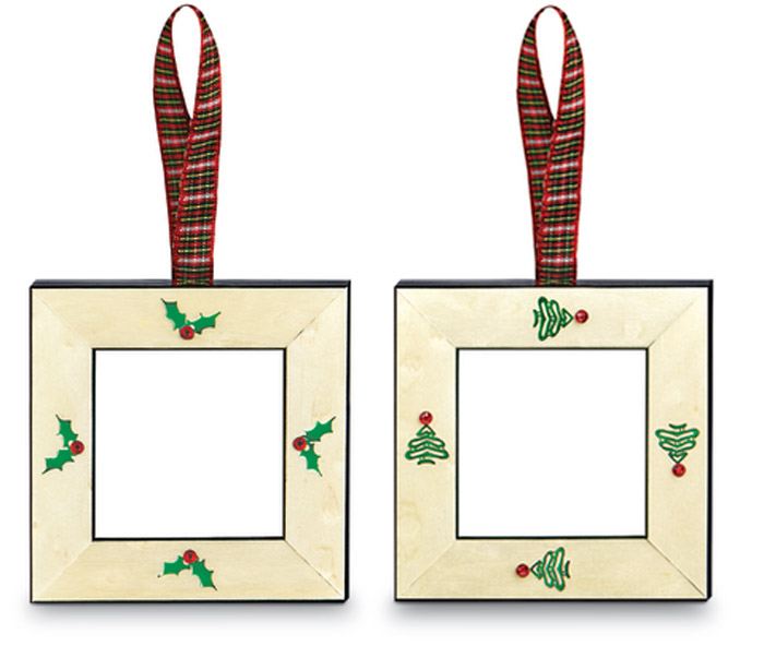9516: Holiday Frame Ornaments (Set of Two) (Product Detail)