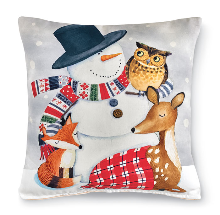 5663: Snowman and Woodland Pals Pillow (Product Detail)