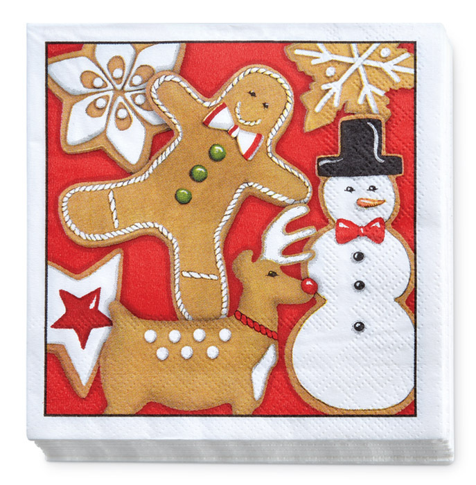 9530: Holiday Gingerbread Napkins (Two Packages of 20 Each) (Product Detail)