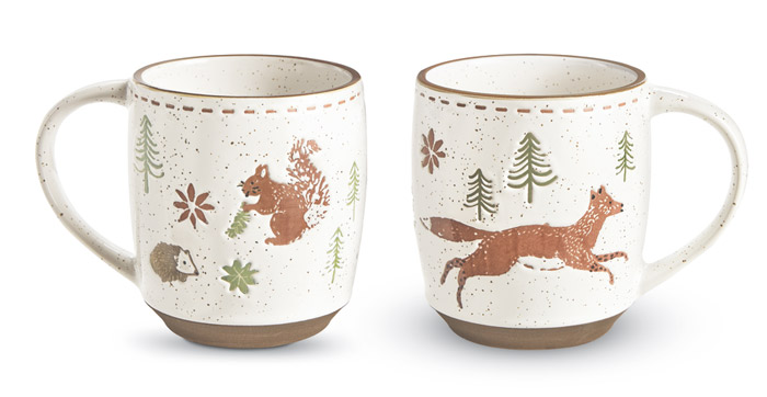 8952: Fox and Squirrels Mugs (Set of Two) (Product Detail)