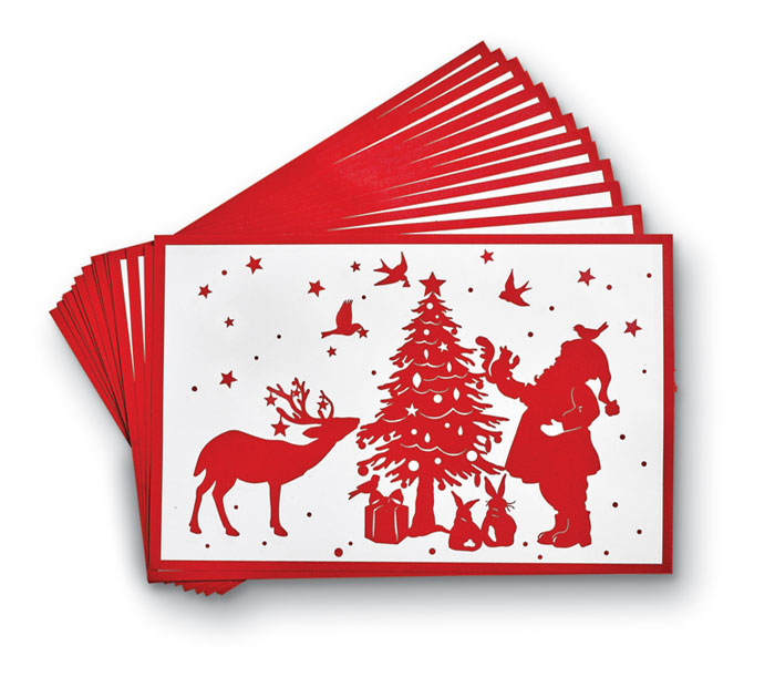 9531: Santa Paper Placemats (Set of 24) (Product Detail)