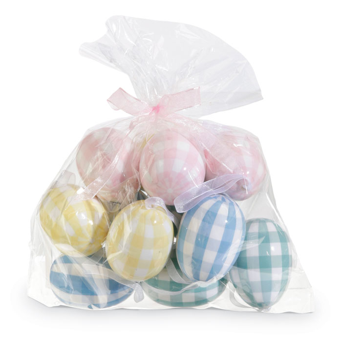 9627: Plaid Easter Eggs (Set of 12) (Product Detail)