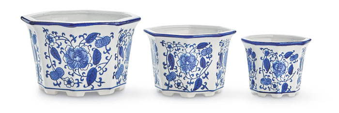 9621: Blue and White Cachepots (Set of Three) (Product Detail)