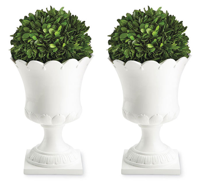 9622: White Lotus Planters (Set of Two) (Product Detail)