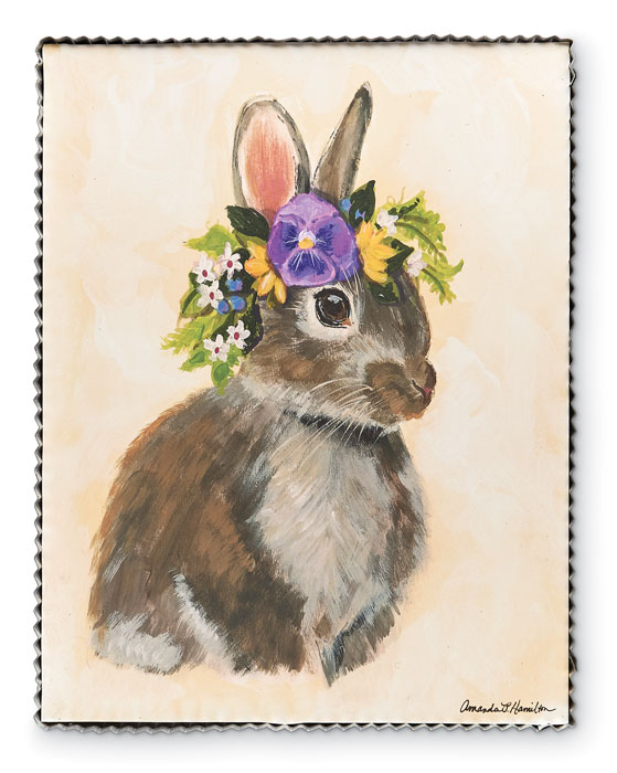 9645: Spring Woodland Rabbit Wall Art - Large (Product Detail)