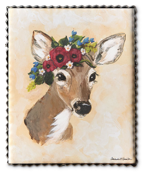 9646: Spring Woodland Deer Wall Art (Product Detail)