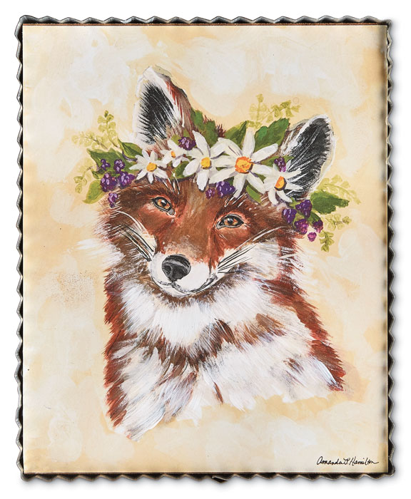 9647: Spring Woodland Fox Wall Art (Product Detail)